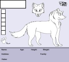 Female Wolf Free Ref Sheet by Bonday