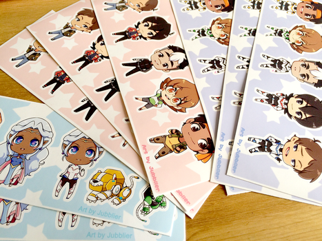Voltron Sticker Sheets by Jubblier