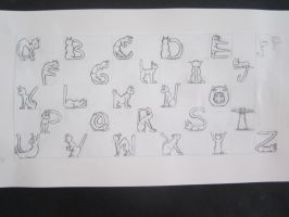 Cat Font by Calicara