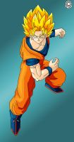 Ssj2 Son Goku by Trunks777