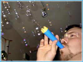 Rob Blowing Bubbles by lepizzagirl