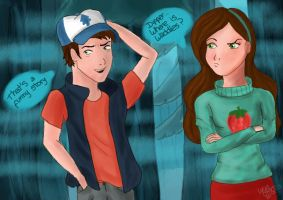 Dipper and Mabel by Luciand29
