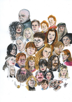 The magic world of Harry Potter by ladiko29