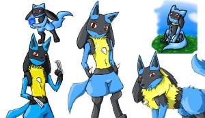iScribble- Lucario_Riolu Spam by Angel-soma