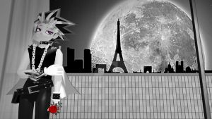 MMD Yu-Gi-Oh - Yami - Alone in Paris by InvaderBlitzwing