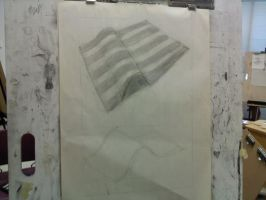 Creased Paper with Black Bars by SeeMooreDesigns