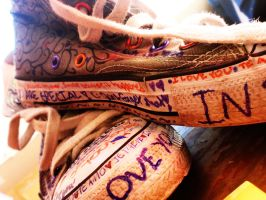 Sharpies plus Old Converse by smilejustbcuz