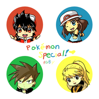 PokeSpe Chibis - RGBY by Aquarika