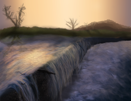 Small Waterfall 1 by Wolflover007