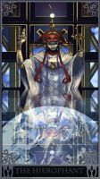 20120109 Robot Tarot Hierophant by ChimeraPathogen