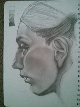 face sketch by dude707LoL
