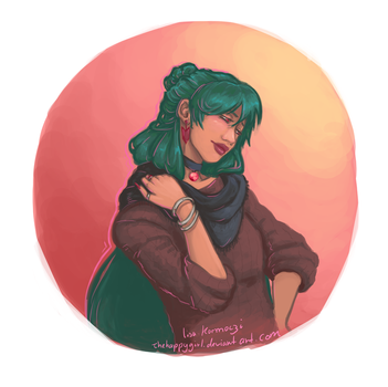 Sailor Pluto sketch by thehappygirl