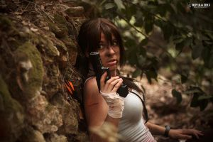 Lara Croft - Can't Let Them See Me by CrystalPanda