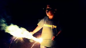 A Kid and his Sparklers 2 by KalaIneko