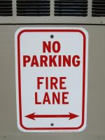 Fire.Lane.Sign by NoRulesStock