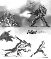 Fallout quick sketches by BenedictWallace