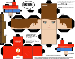 sheldon cubeecraft design by 00cheily00