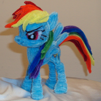 Pipe Cleaner Rainbow Dash by PonyCrafter