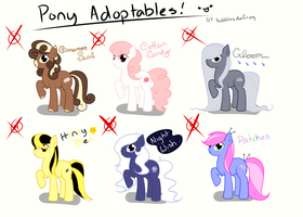 MLP OC Adoptables [CLOSED] by BubblesTea