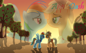 AppleDash Wallpaper- request by TheWolfPack15
