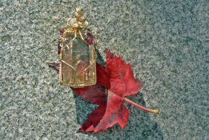 Frozen Sunlight Pendant by magpie-poet