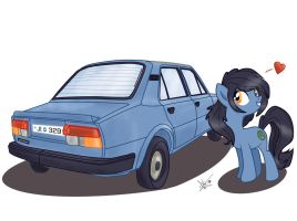 MLP Pony OC + Car Request by LaurentChokobita