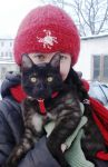 Me and my cat :) by Polin-Sam