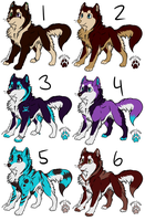 Canine Adopts Set 1 OPEN! :3 by sarastallet99