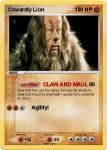 Cowardly Lion Pokemon Card by Amphitrite7