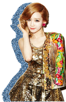 SNSD TTS Taeyeon Glitter Silhouette Edit PNG 01 by xElaine