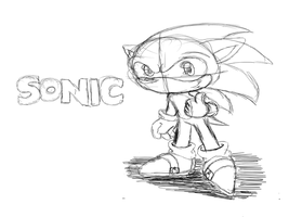 Sonic id Sketch by GamistTH