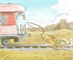 Train chasing by King-Kakapo