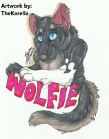 Wolfie Badge by TheKarelia