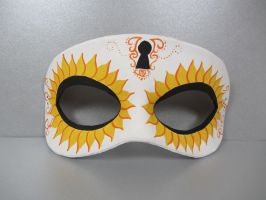 Day of the Dead Sunflower mask by maskedzone