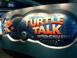 EPCOT: Turtle Talk sign by wilterdrose-stock