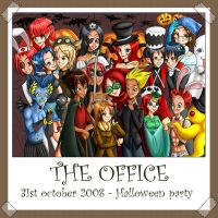 Halloween in the office by Momoka