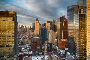 Times Square at sunset by arnaudperret