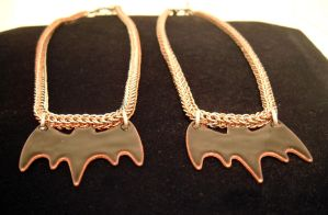 Wedding Necklace Set.  Batty by chainmaille