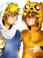 Jake And Finn by mochimochicat