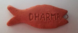 Dharma fish biscuit charm from Lost by Krinkee