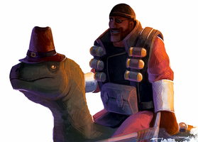 TF2 Speedpaint - Demoman and Rappy by Essence-Of-Rapture