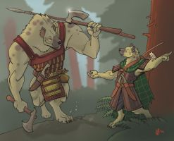 Half-giant gnoll, version II by Pachycrocuta