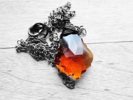 Swarovski Smoked Topaz Baroque Gunmetal Necklace by crystaland