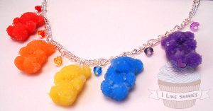 Scented sour gummy bear bracelet by ilikeshiniesfakery