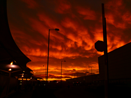 Sunset - Glasgow Airport_UK by IoannisCleary