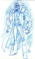 Wolverine: Sabertooth rough by hyperjack08