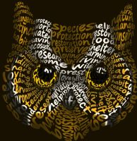 Owl Typography by MaidenOfTheBlade