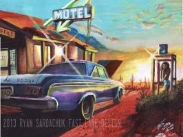 The Ol' Dodge Polara (Painting and Poem) by FastLaneIllustration