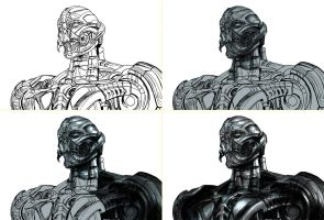 Ultron Prime - process by neoyurin