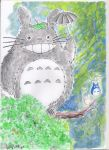 Totoro Grey watercoulours by LucaNnoCorE